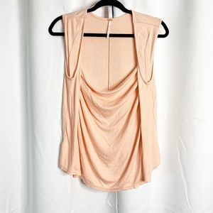 Free People Tops - free people peach cowl neck tank blouse M
